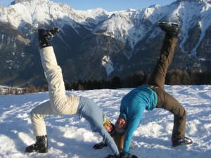 Yoga-Sneeuw