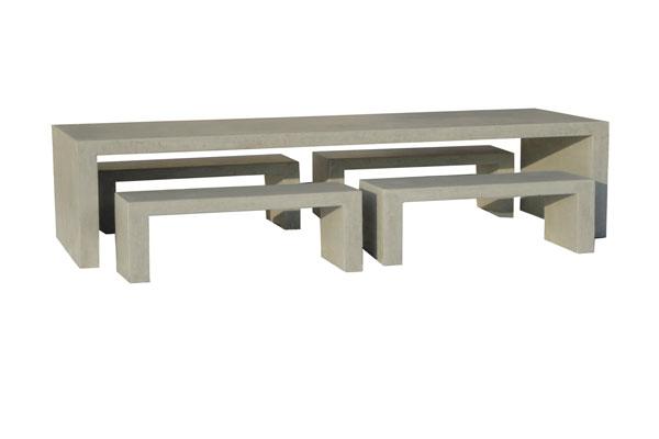 Beton Tafel Buiten : Betonnen tafel antraciet u onderstel blauwstaal u de betonfabriek